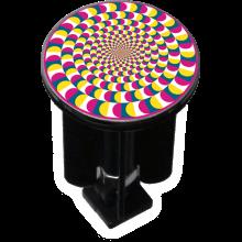 Bouchon bonde lavabo motif design Roue colorée