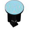 Bouchon bonde lavabo motif design Spirale
