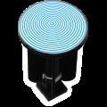 Decorated Sink Plug Design Spiral