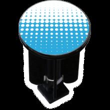 Bouchon bonde lavabo motif design Blanc et bleu