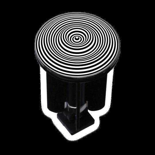 Bouchon bonde lavabo motif design Cercles 3D