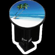 Bouchon bonde lavabo motif design Plage de palmiers