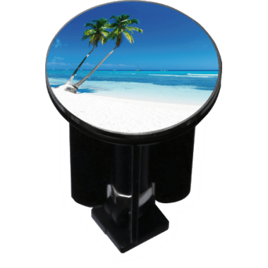 Decorated sink plug design palm beach