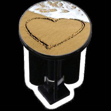 Decorated Sink Plug Design 'Heart'