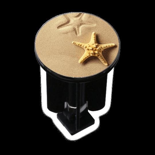 Decorated Sink Plug Design Starfish