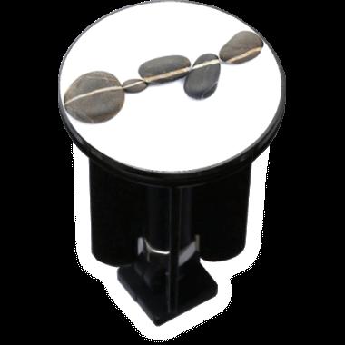 Decorated Sink Plug Design Stones