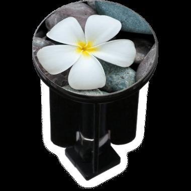 Decorated Sink Plug Design 'Flower on Pebbles'