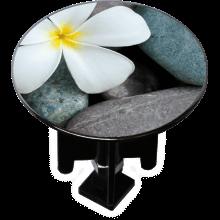 Bouchon bonde lavabo motif design Fleur galets