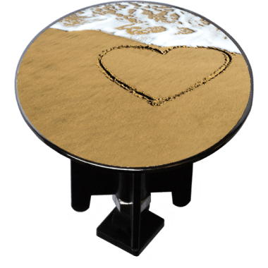 Decorated Extra-Large Sink Plug Design 'Beach Heart'