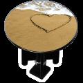 Bouchon bonde lavabo motif design Coeur sur sable