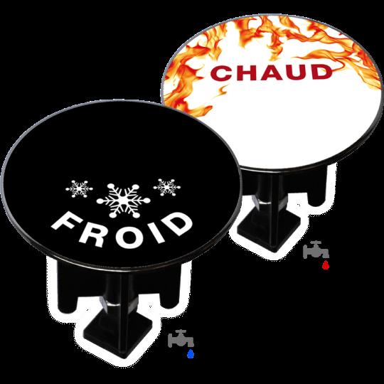 Bouchon bonde lavabo motif duo-design Chaud & Froid