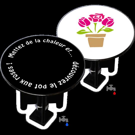 Bouchon bonde lavabo motif duo-design